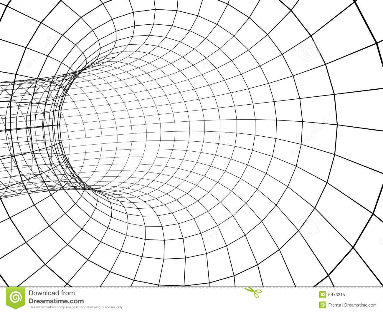 3d Abstract Tunnel From A Grid Royalty Free Stock Photo