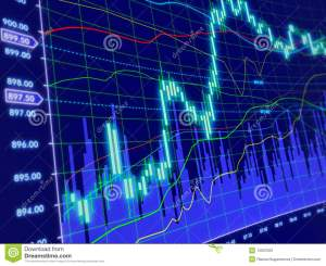 3d Background With Stock Diagram Stock Illustration
