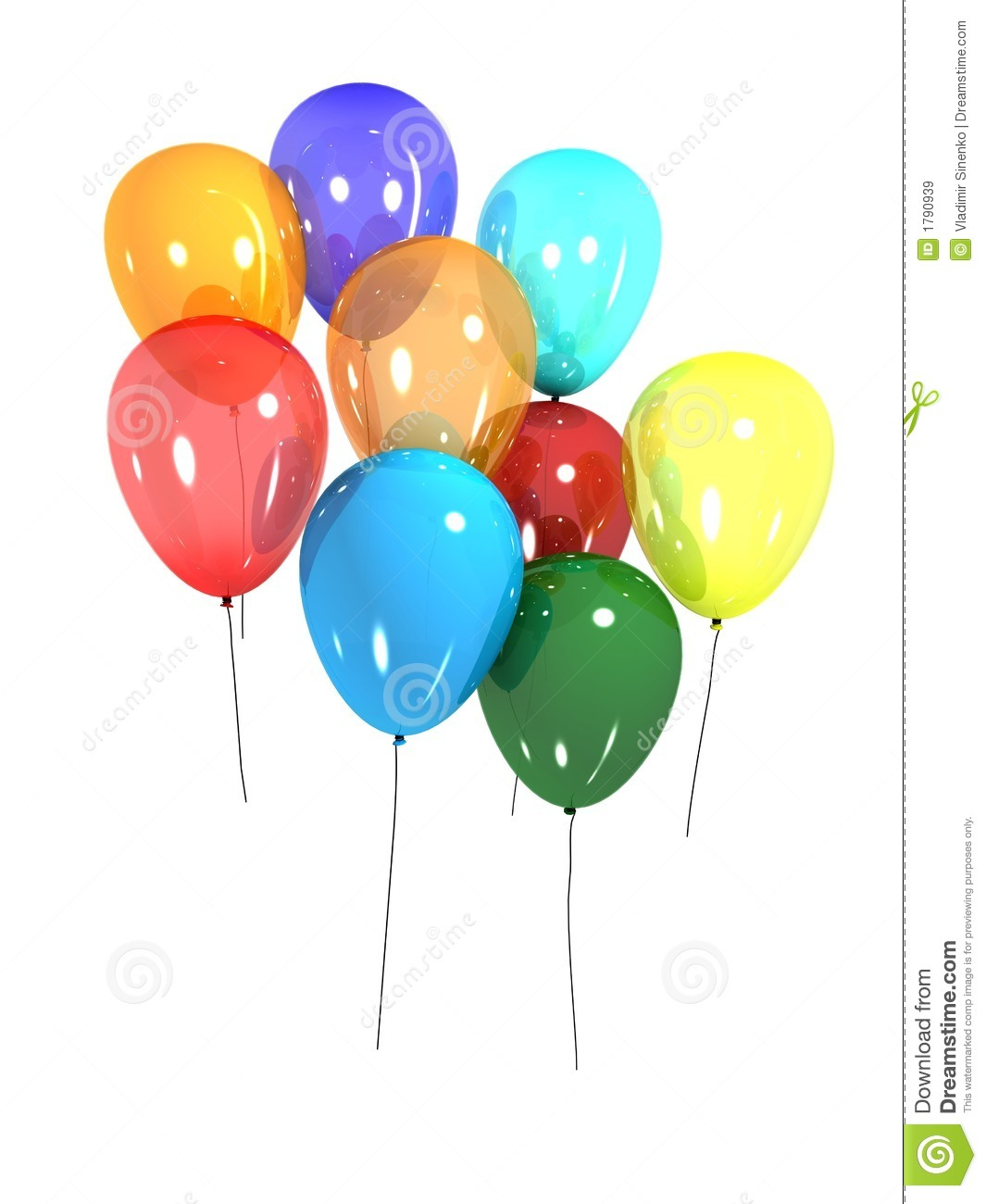 3d balloons stock illustration