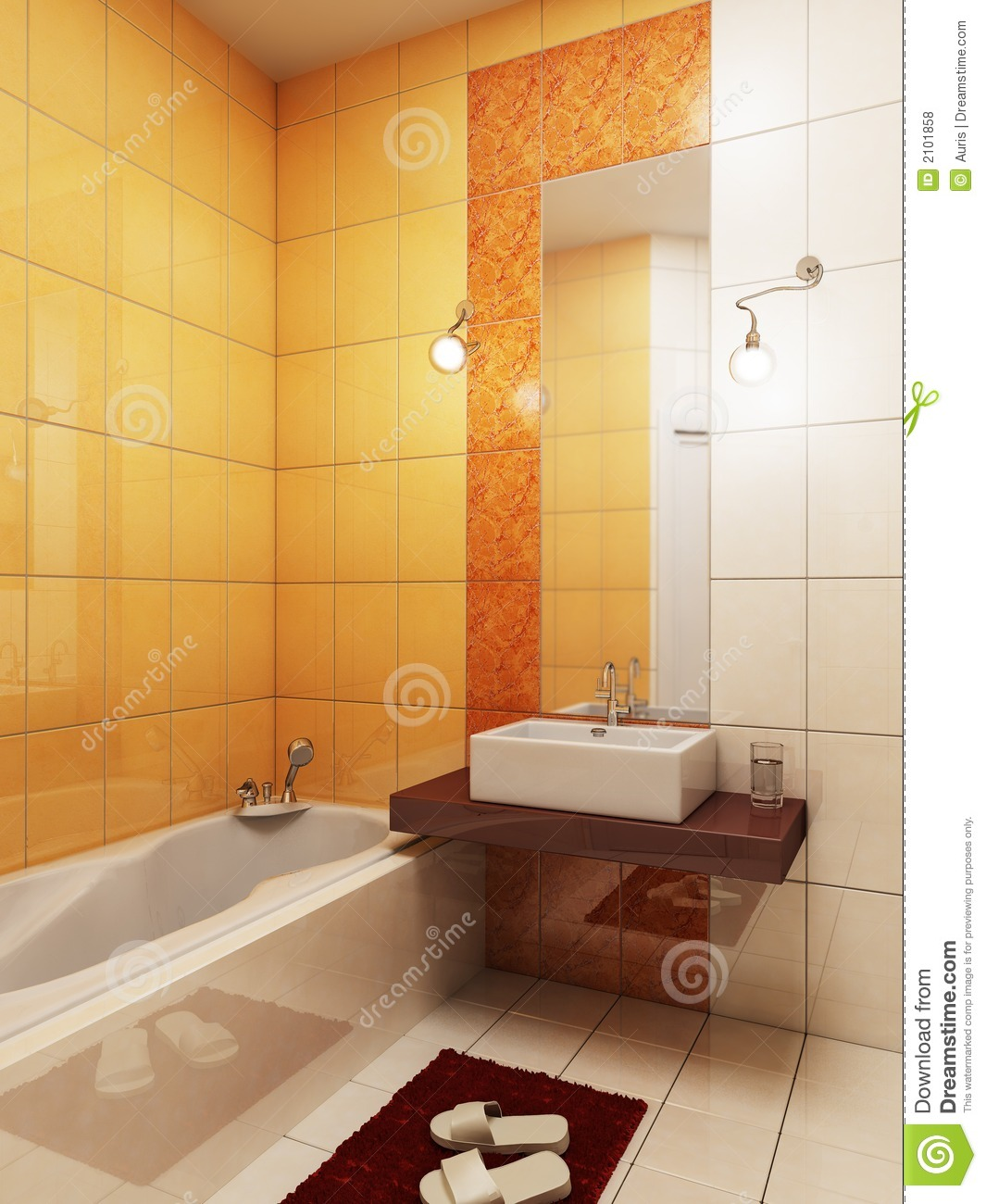 3d Bathroom Rendering Royalty Free Stock Photos Image