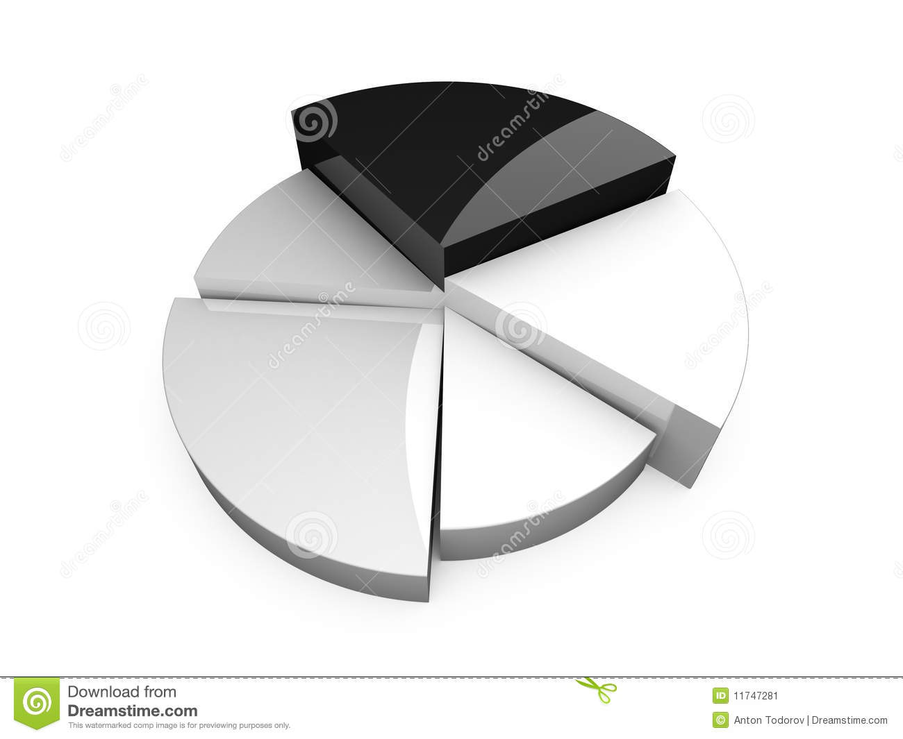 hight resolution of 3d black and white circular diagram