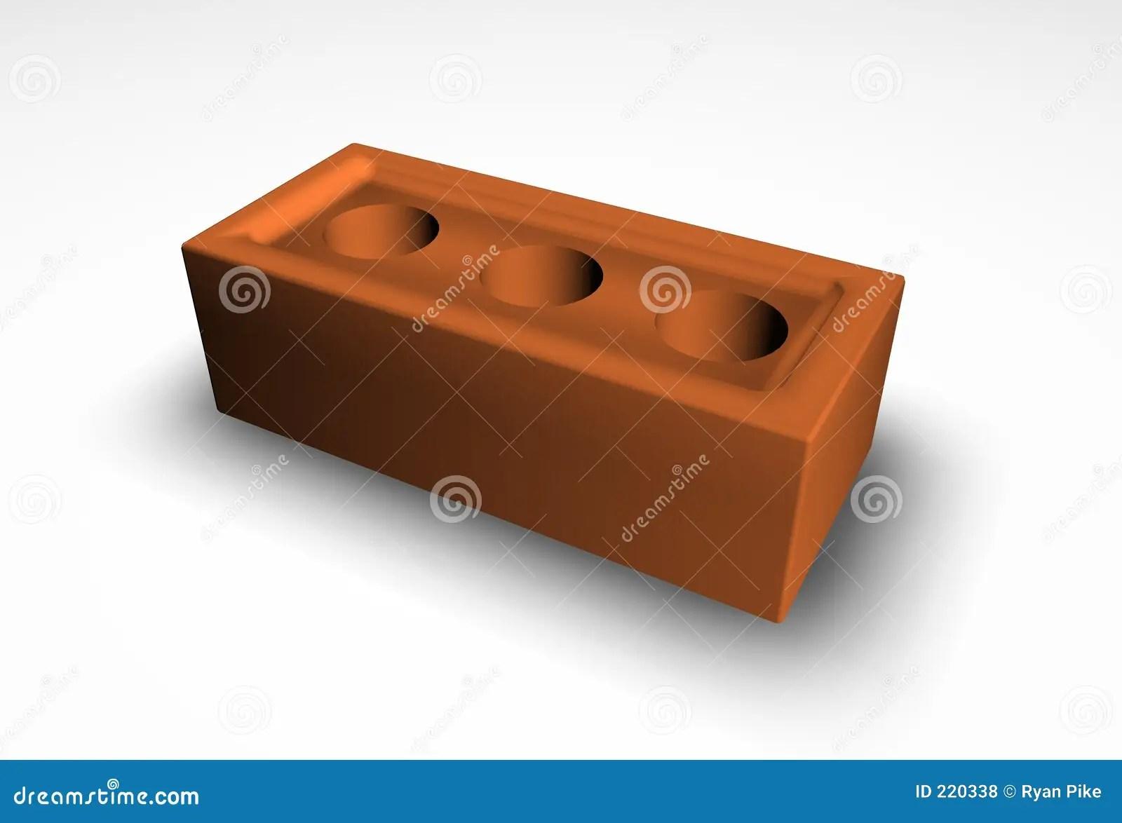 3d brick stock illustration