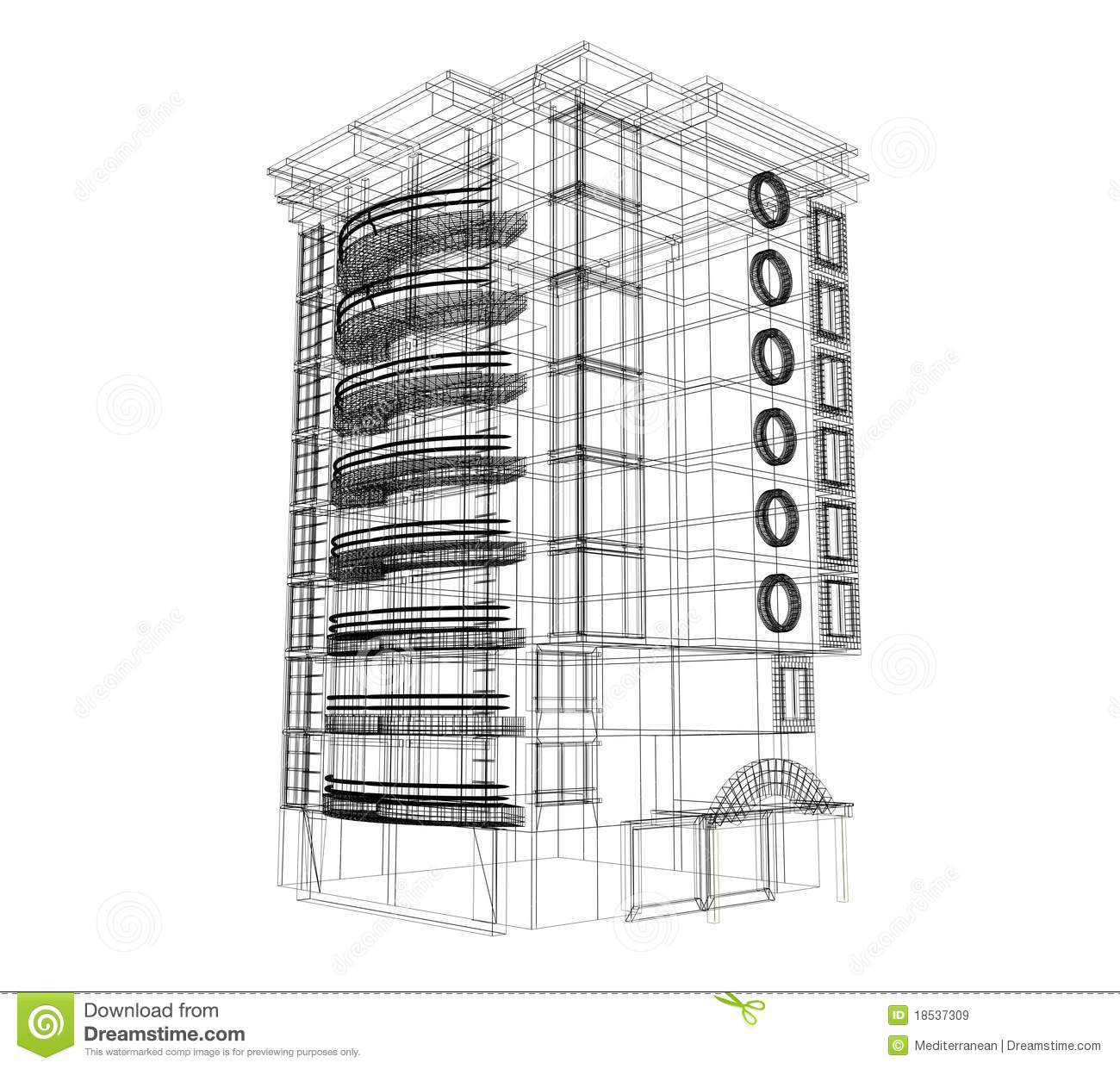 3d Building Plan Stock Illustration Illustration Of