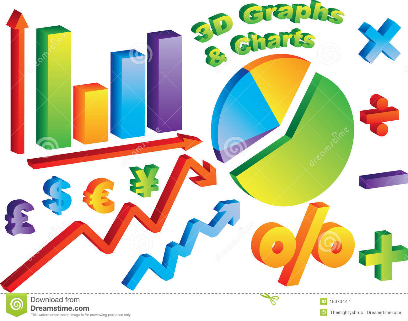 3d Charts And Graphs Stock Image Illustration Of Graph