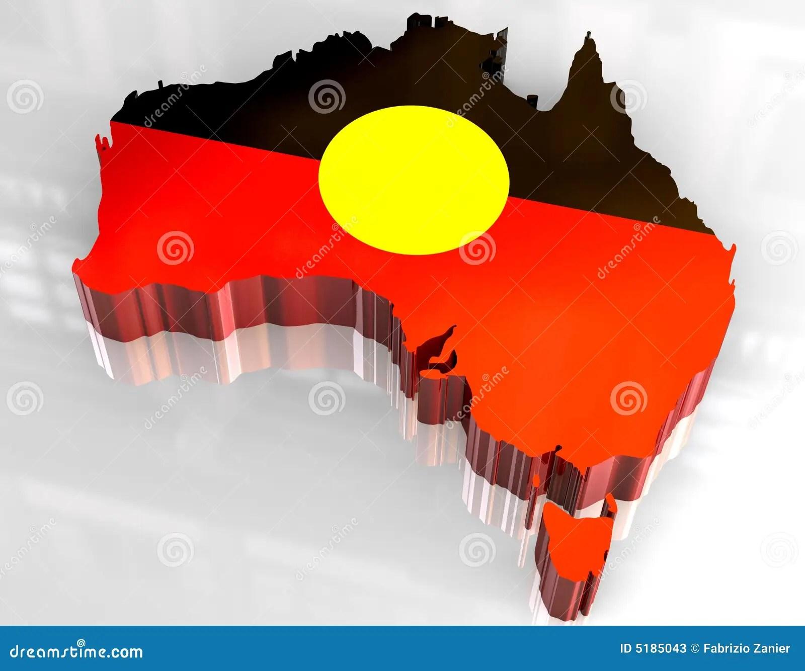 3d Flag Map Of Australian Aboriginal Stock Photos Image