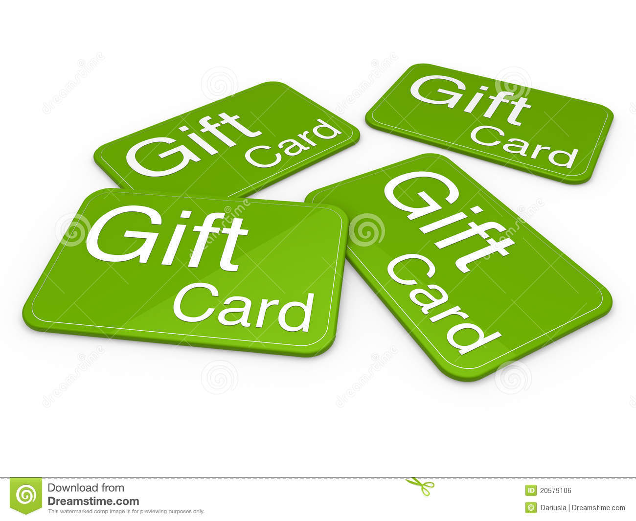 3d Gift Card Green Royalty Free Stock Image Image 20579106