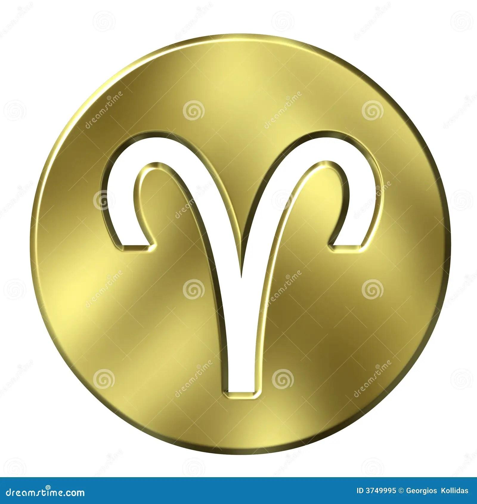 3d golden aries stock