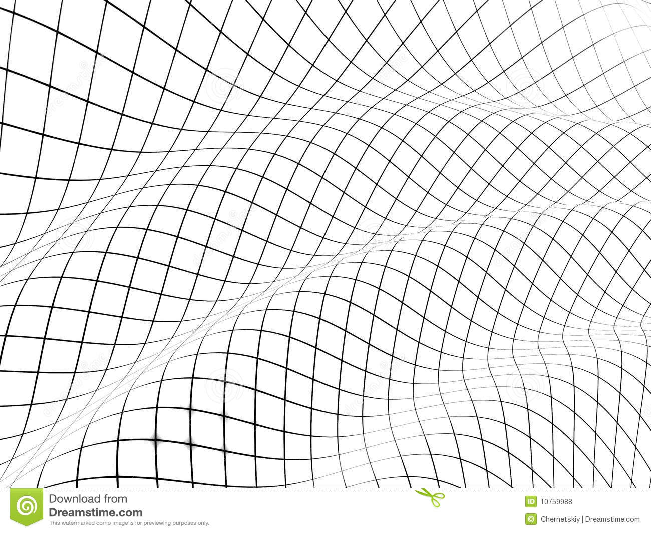 3D Grid Covered Curved Surface Royalty Free Stock Photos