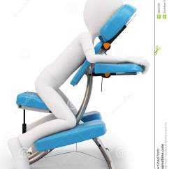 Massage Chair Prices Heavy Duty Beach Chairs 3d Man And Stock Illustration. Image Of Treatment - 29023496