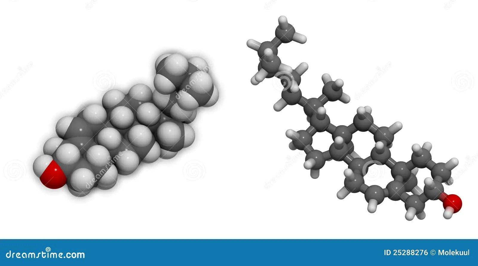 3D Molecular Structure Of Cholesterol Stock Illustration