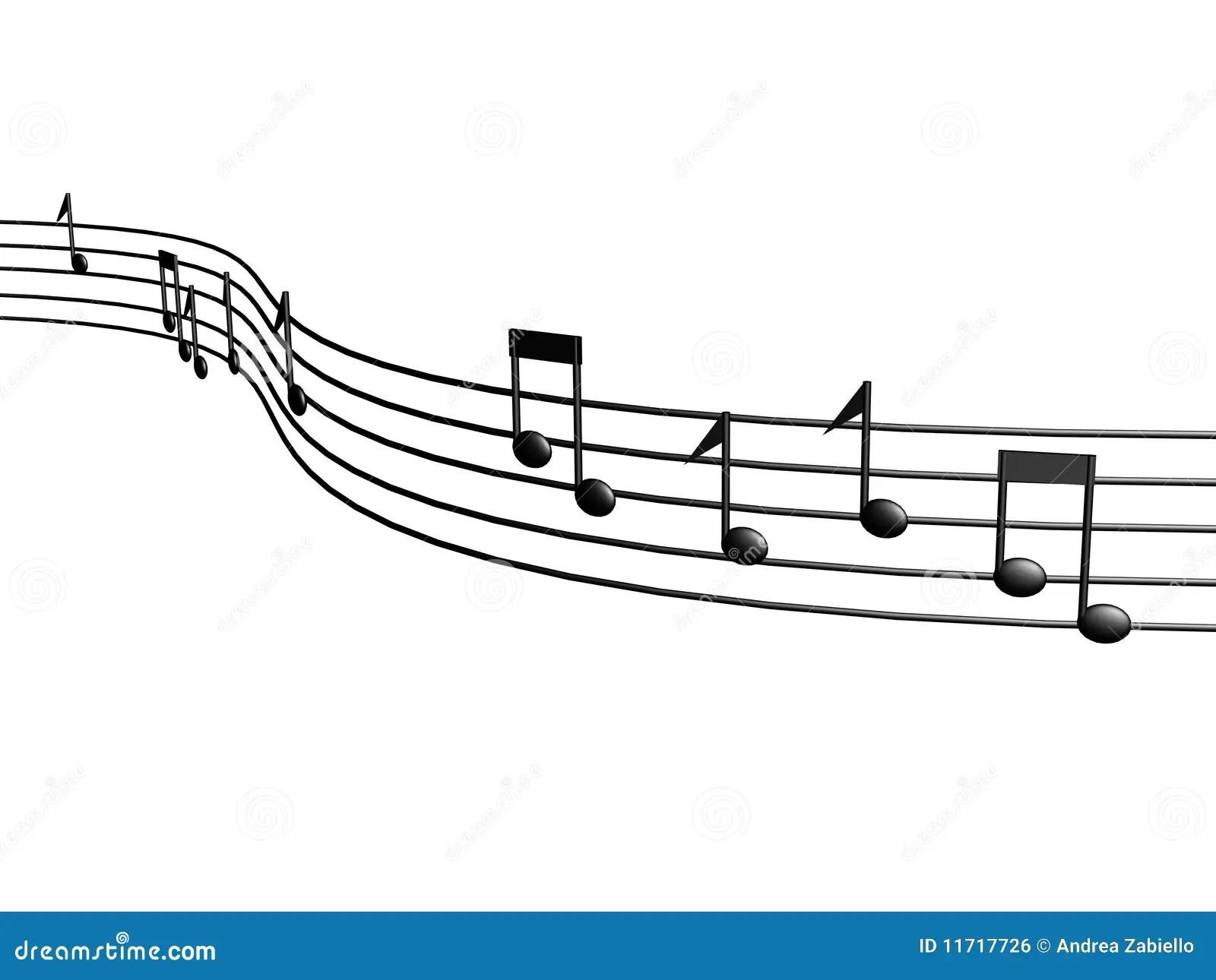 3d music score notes stock illustration. Illustration of