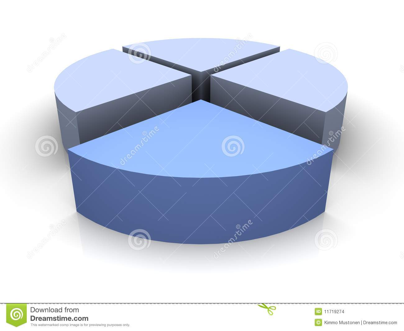 3d Pie Chart Divided By 3 Images