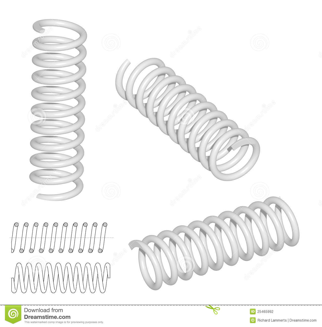 3d Render Of Coil Spring Stock Photography