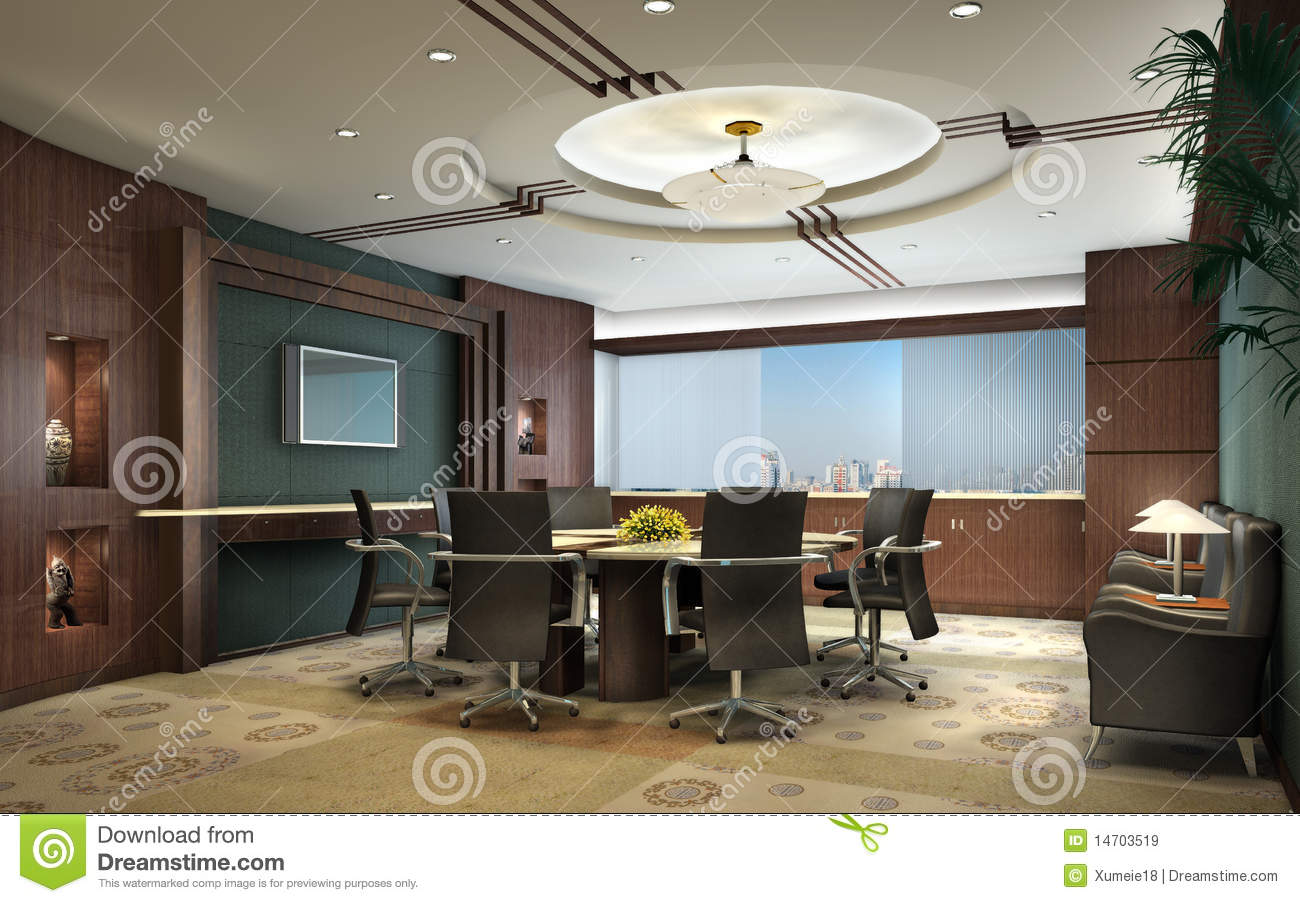 the sofa and chair company pictures of small sectional sofas 3d rendering a conference room stock illustration ...