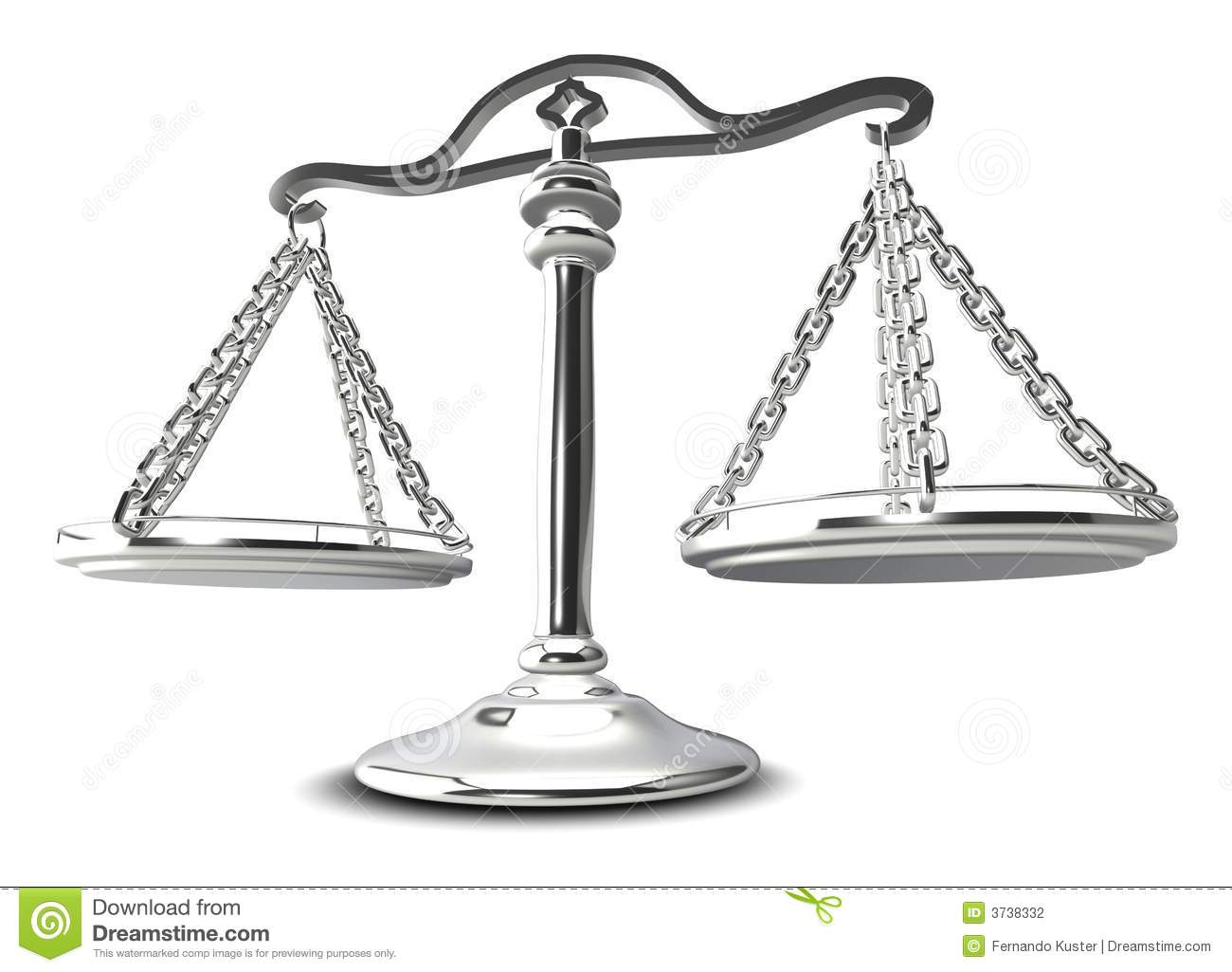 3d Scales Of Justice Stock Illustration Image Of Crime