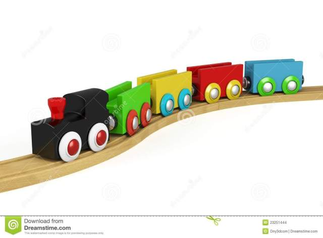 3d Wooden Toy Train Stock Images - Image: 23251444