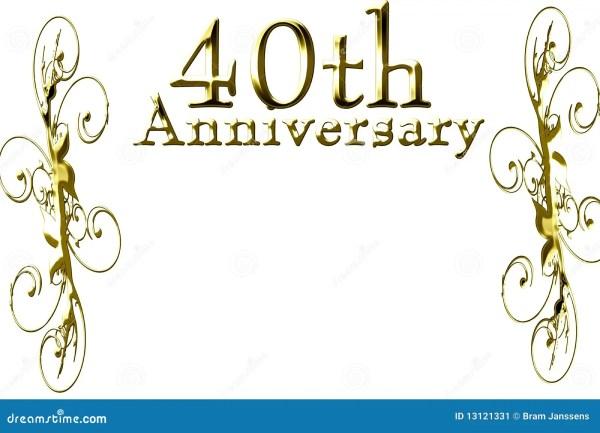 40th anniversary stock illustration