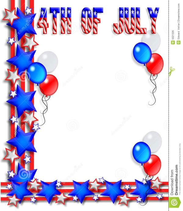 4th of july border stock illustration