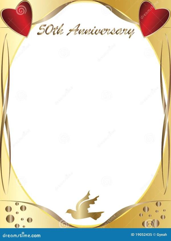50th wedding anniversary stock