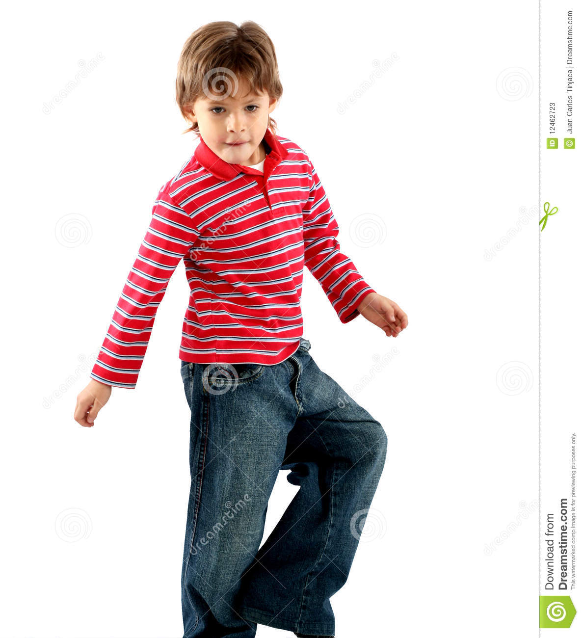 7 Years Old Boy Playing Stock Image Image Of Latin