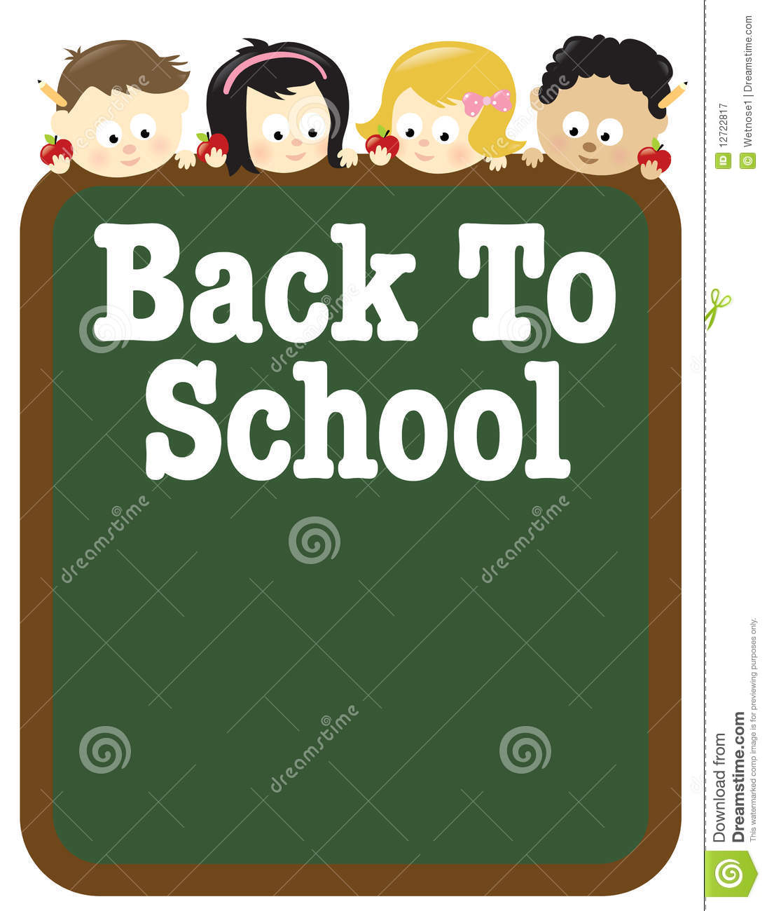8 5x11 Back To School Flyer Template Stock Vector