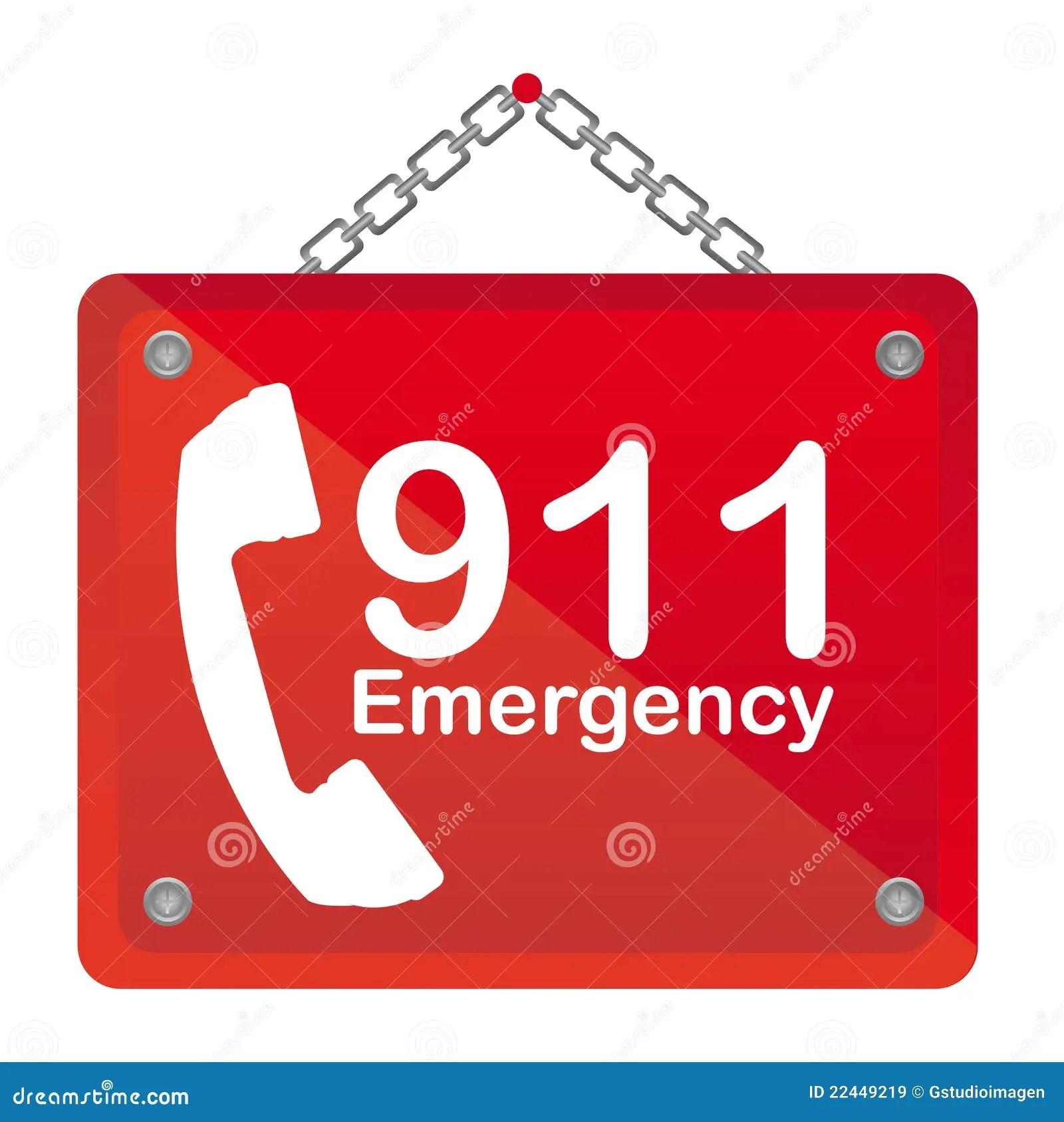 911 Emergency Stock Vector Illustration Of Phone Health
