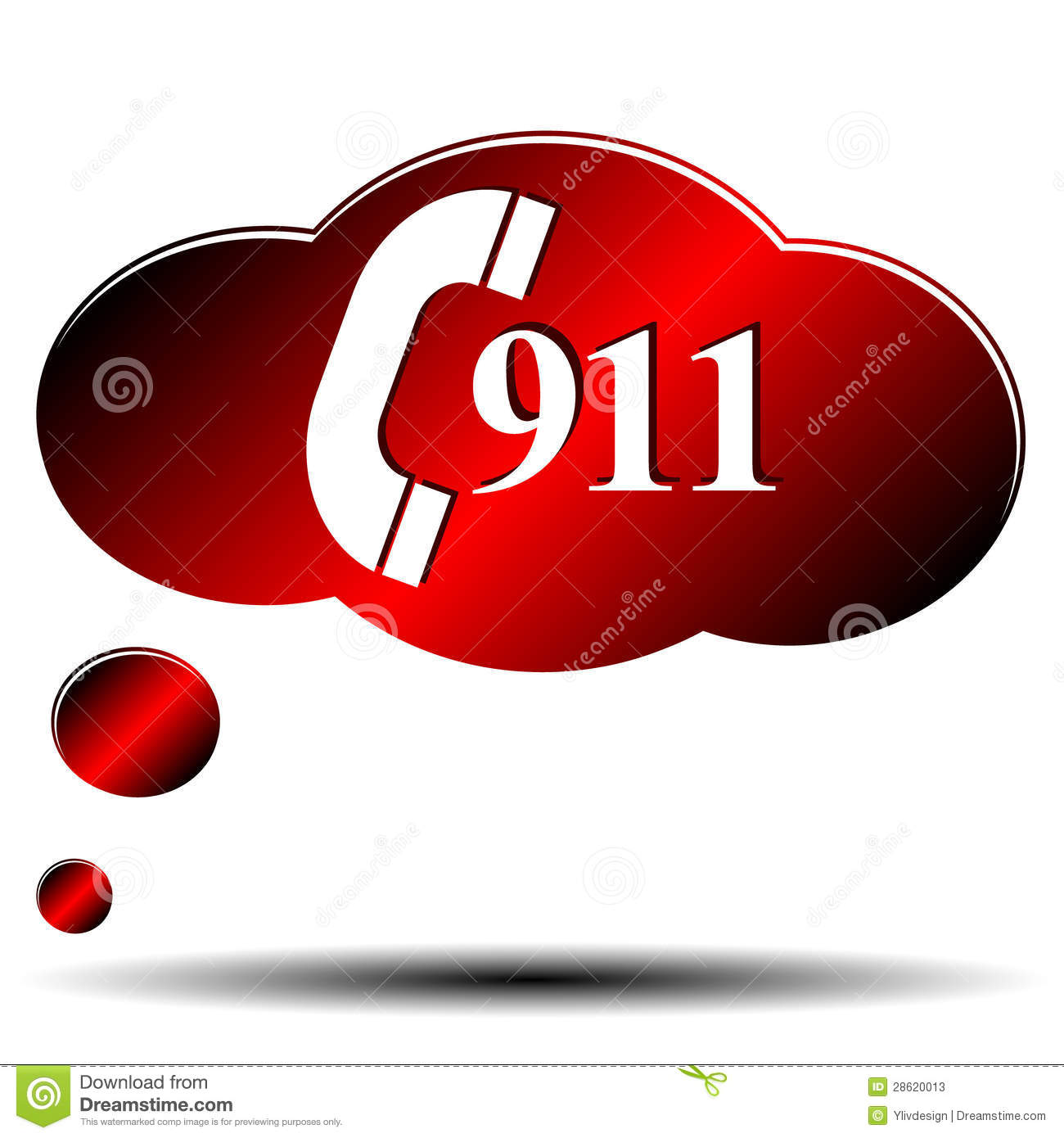 911 Emergency Stock Vector Illustration Of Accident