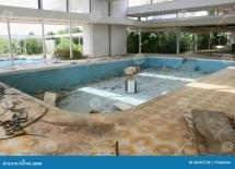 Abandoned Motel Swimming Pool