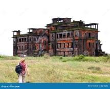 Abandoned Hotel. Bokor Hill. Kampot. Cambodia. Royalty