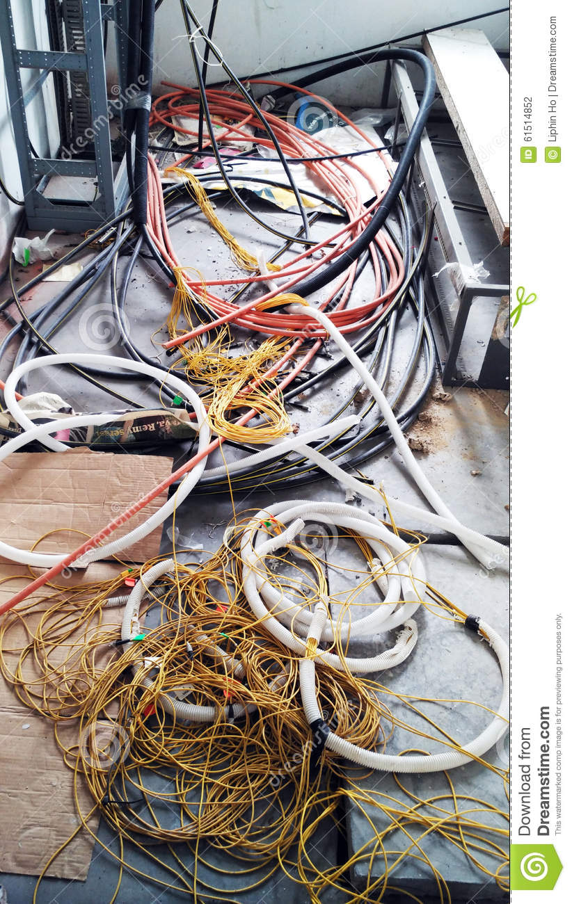 medium resolution of abandoned wires in house