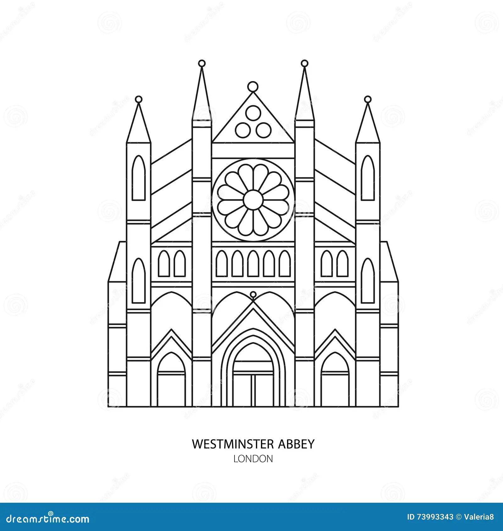 Abbazia Di Westminster Illustrazione Di Vettore Del Punto
