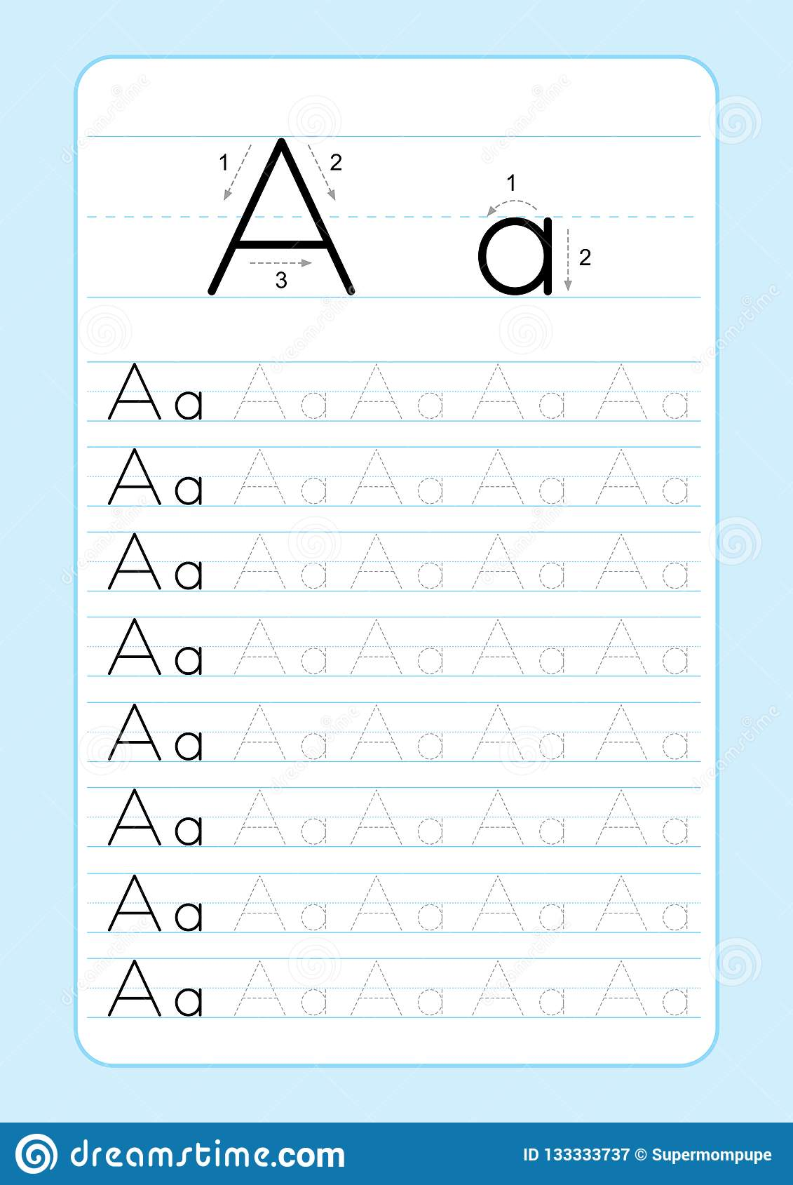 123 Alphabet Worksheet
