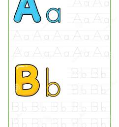 ABC Alphabet Letters Tracing Worksheet With Alphabet Letters. Basic Writing  Practice For Kindergarten Kids A4 Paper Ready To Print Stock Vector -  Illustration of alphabet [ 1689 x 1131 Pixel ]