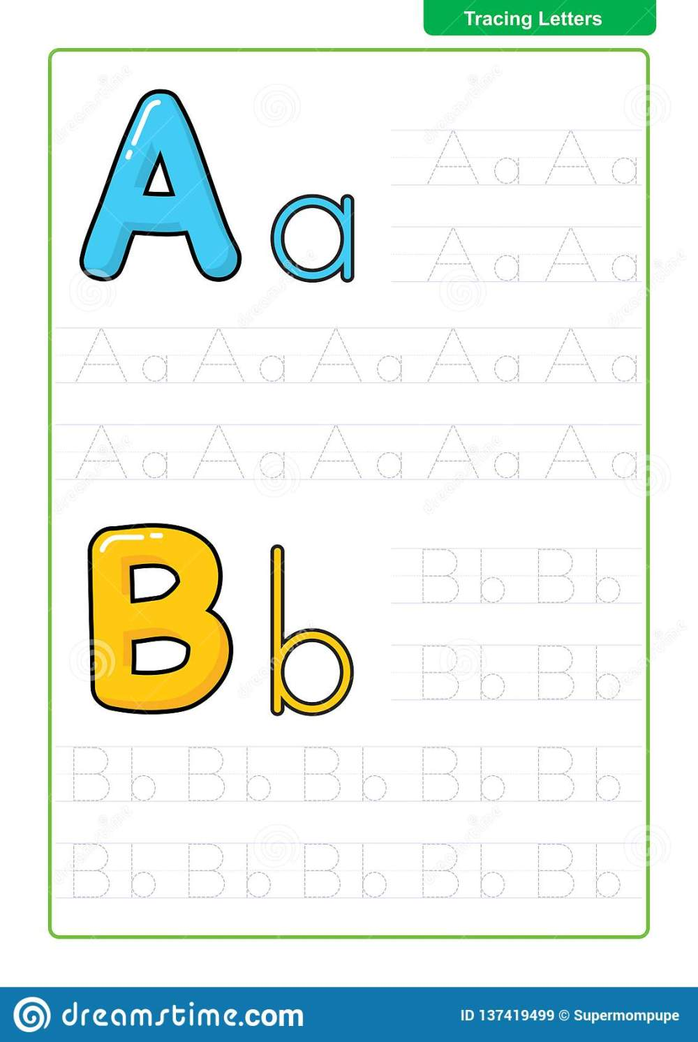 medium resolution of ABC Alphabet Letters Tracing Worksheet With Alphabet Letters. Basic Writing  Practice For Kindergarten Kids A4 Paper Ready To Print Stock Vector -  Illustration of alphabet