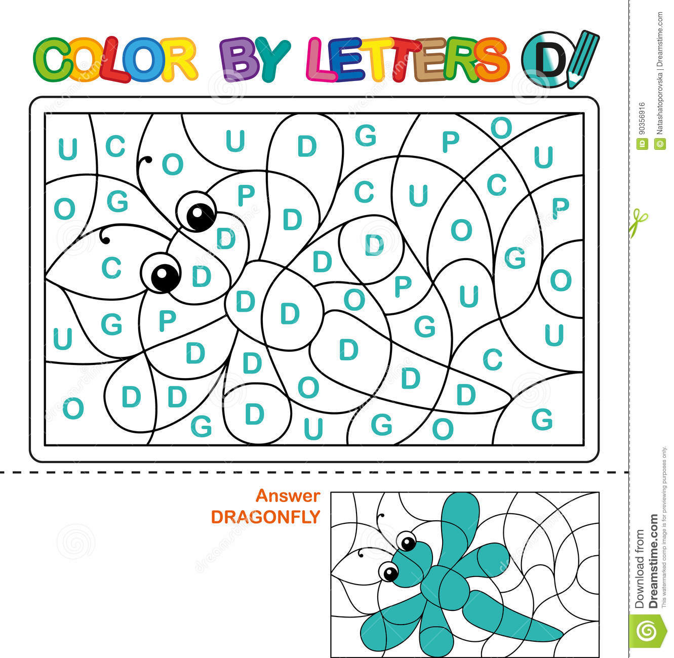Abc Coloring Book For Children Color By Letters Learning