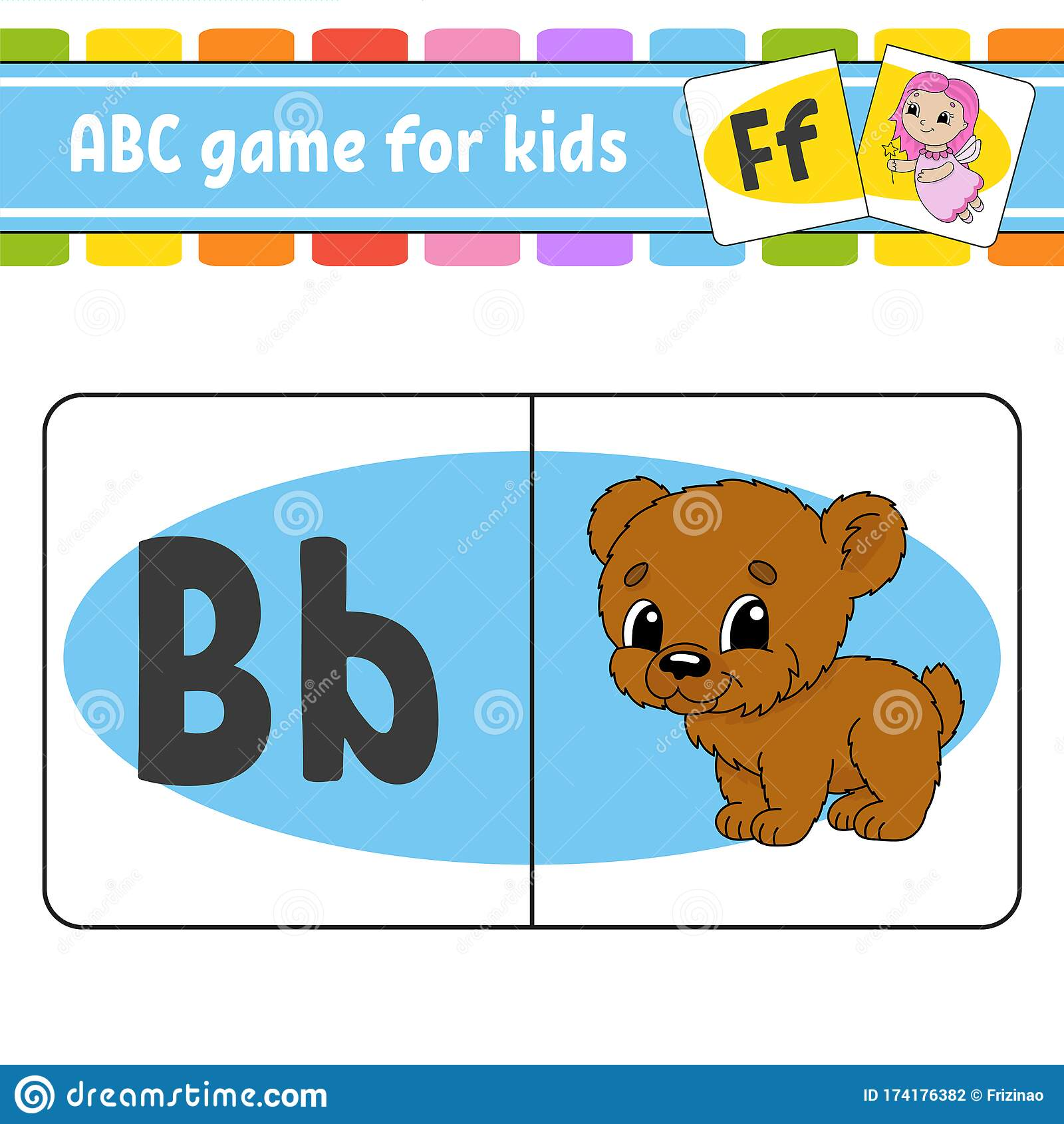 Abc Flash Cards Animal Bear Alphabet For Kids Learning