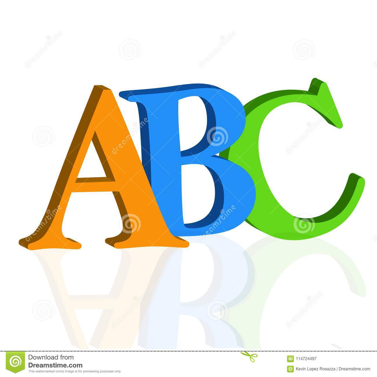 Alphabet Letter V Pictures Vector Illustration