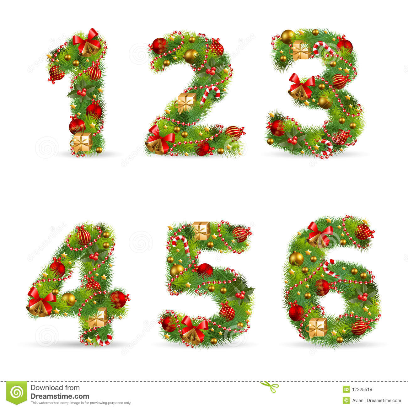 Abcdef Christmas Tree Font Royalty Free Stock Photos