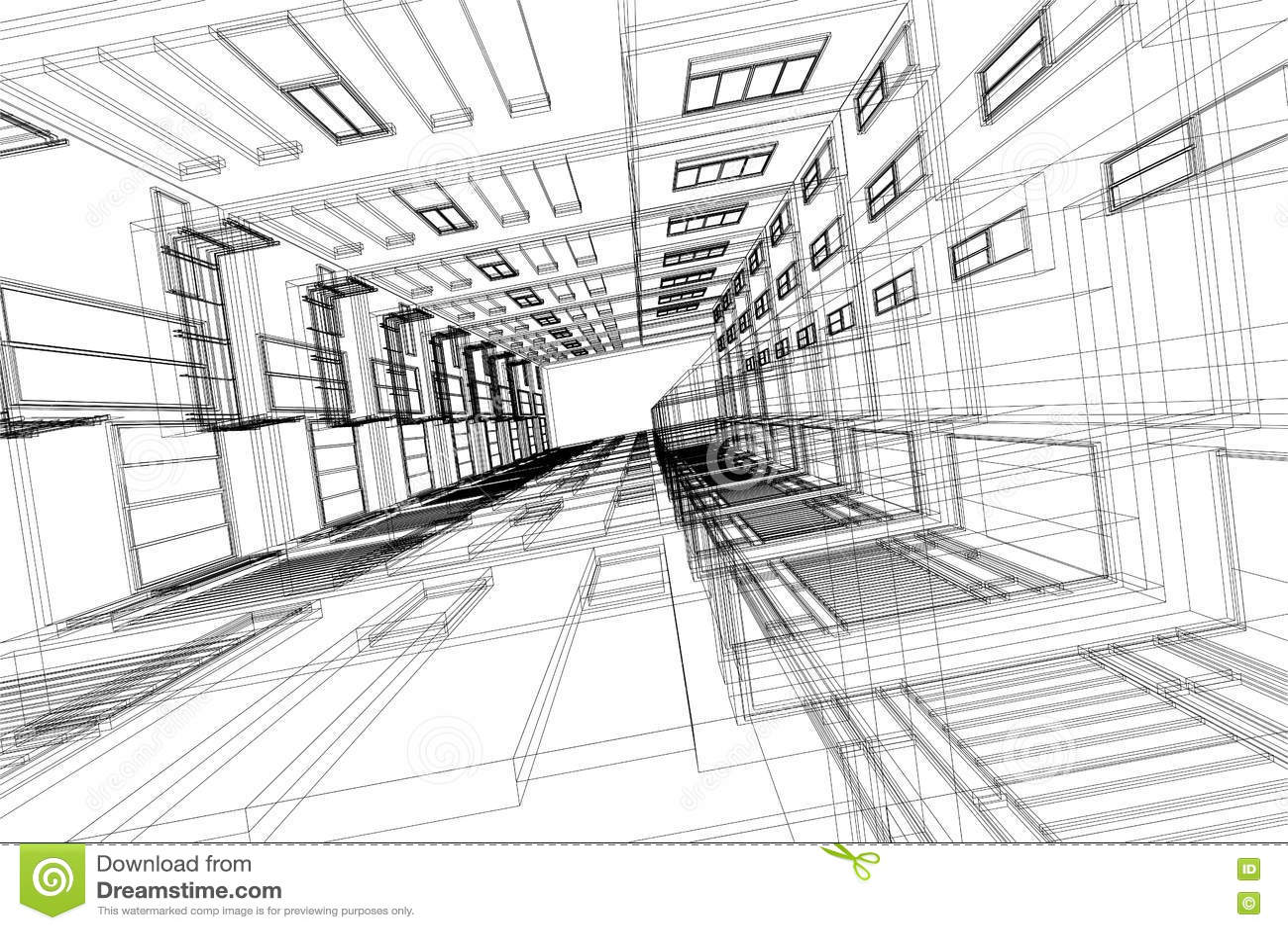 Abrege Sur Eleve Architecture De Fondation 3d Illustration Dessin D Architecture Illustration