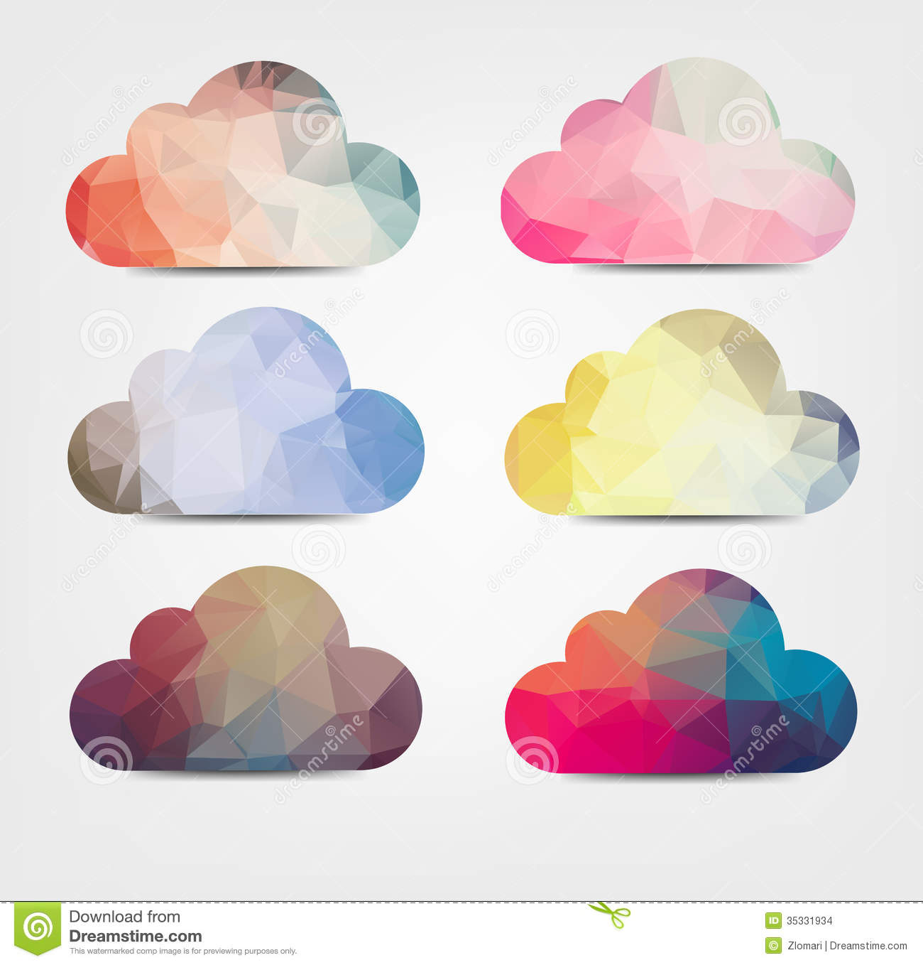 Abstarct Background With Cloud Icons Stock Vector