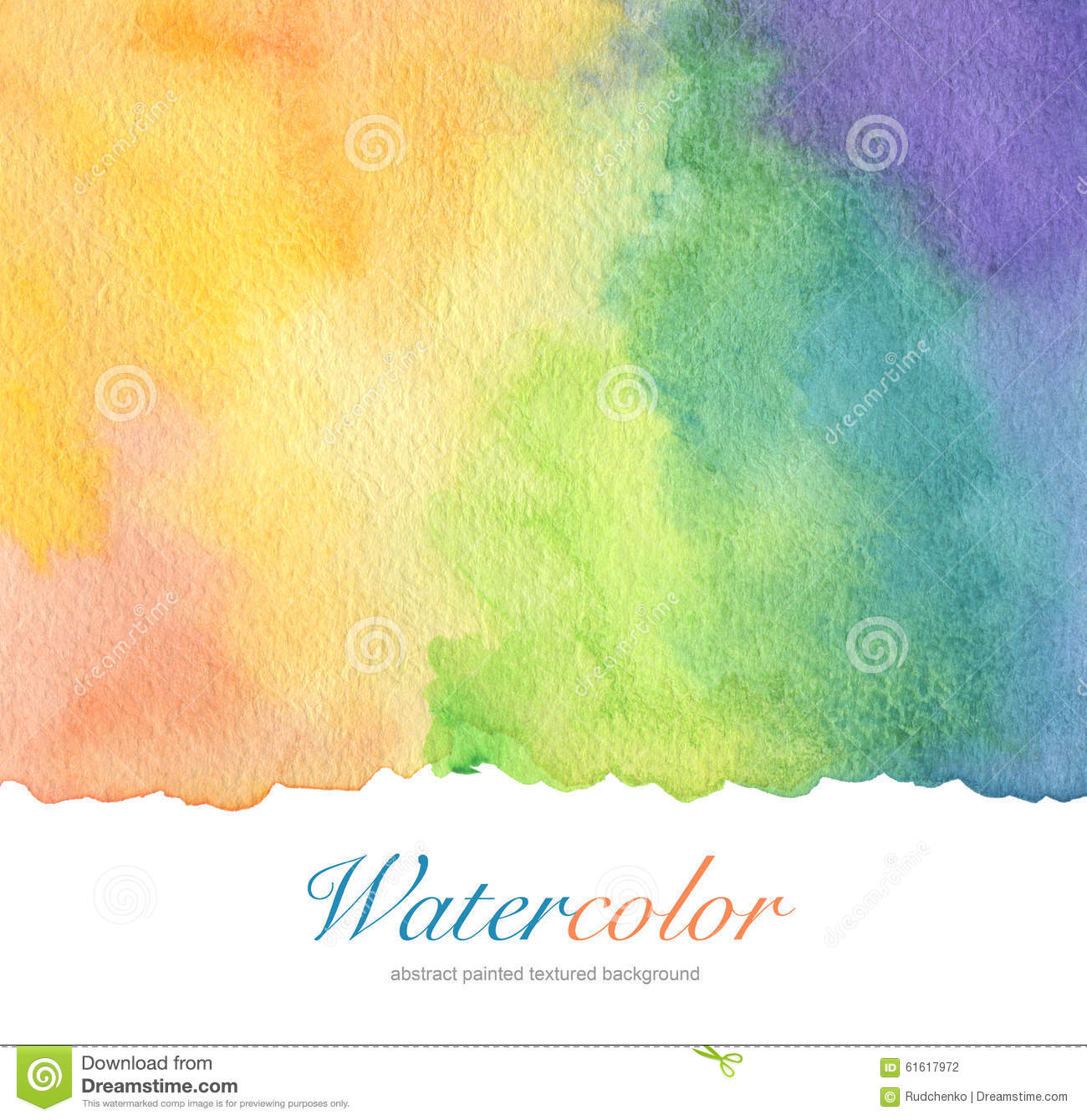 Abstract Acrylic And Watercolor Brush Strokes Painted Background Stock Photo Image 61617972