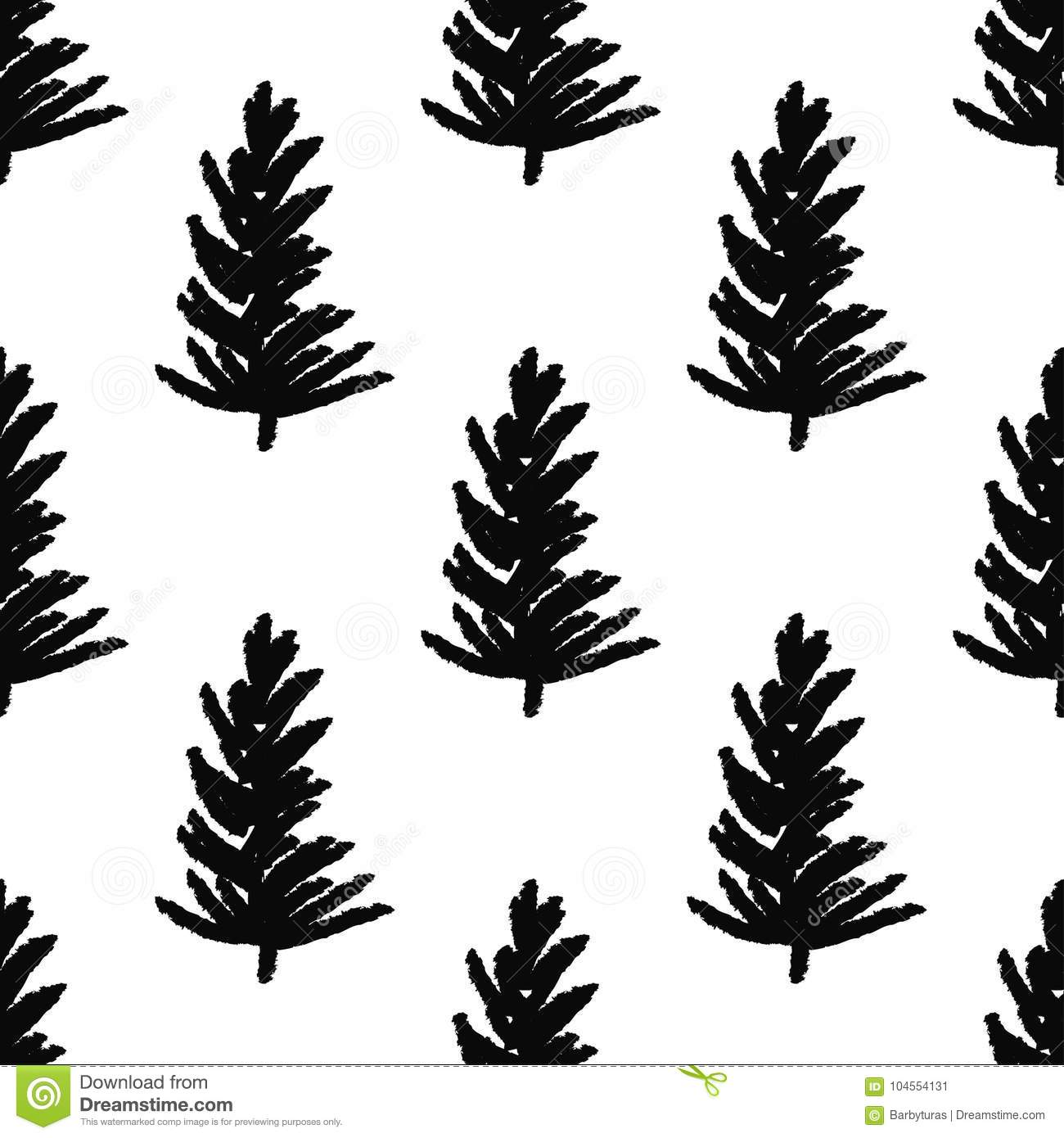 Abstract Art Background Christmas Tree Seamless Pattern Illustration For Wrapping Paper Of