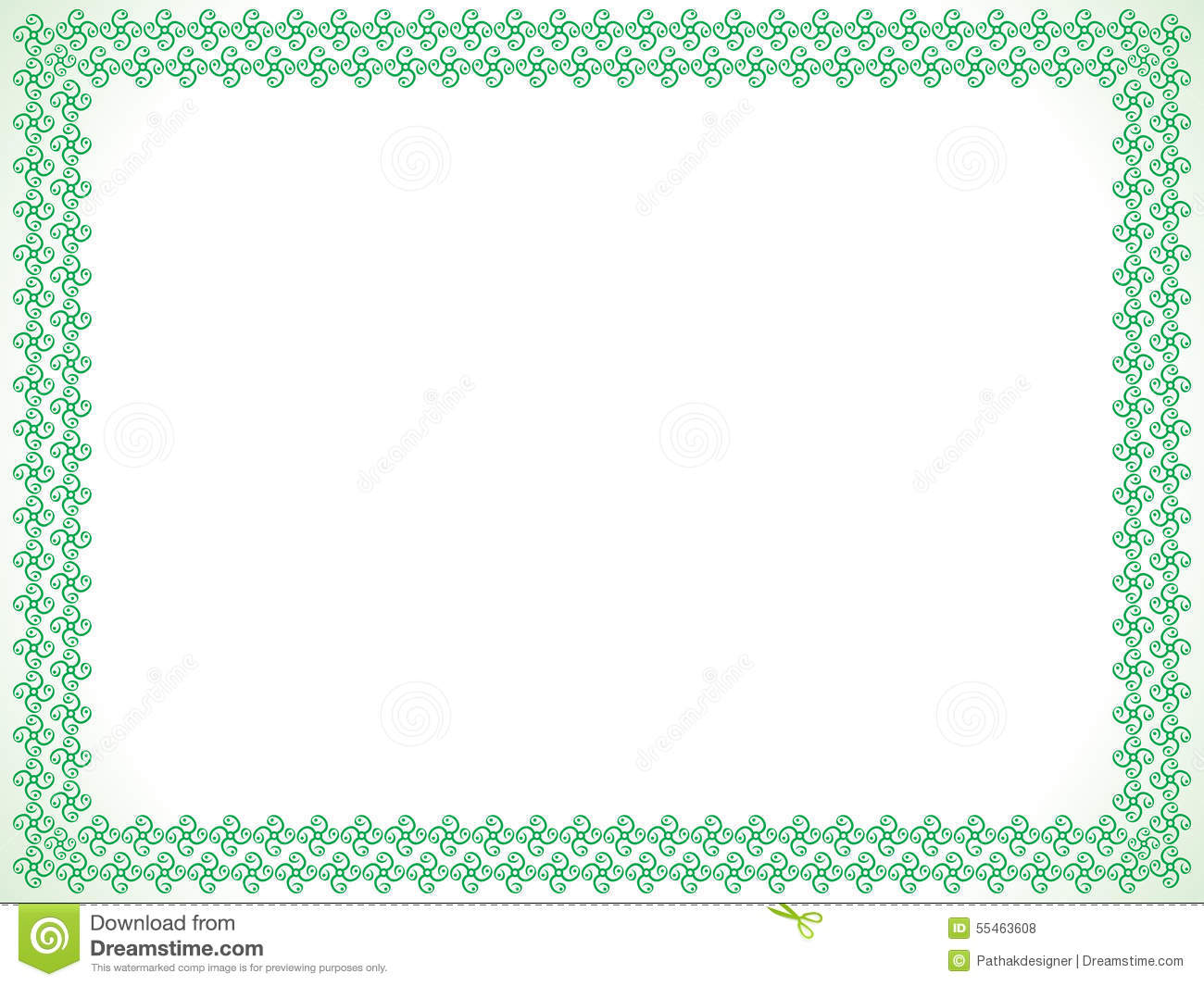Abstract Artistic Green Border Stock Vector  Image 55463608