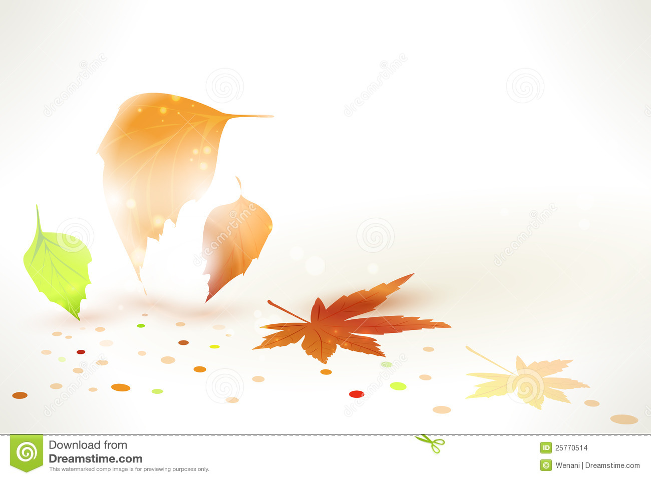 Fall Leaves Wallpaper Powerpoint Background Abstract Autumn Leaves Vector Background Stock Vector