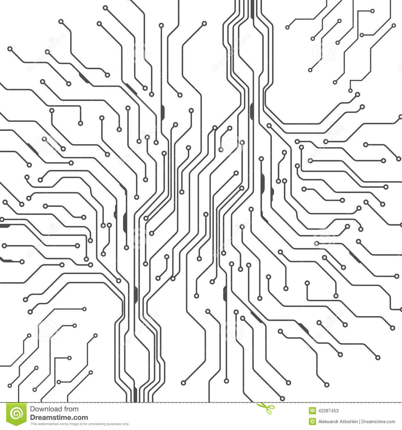 Abstract Background Of Digital Technologies Stock Vector