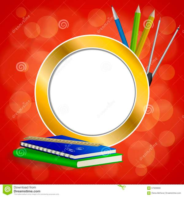 Red Book Pencil And Ruler Royalty-free Stock