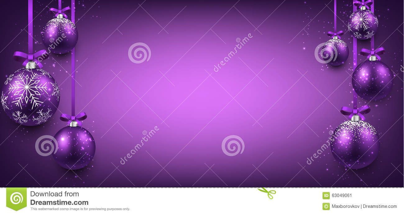 purple ribbon banner