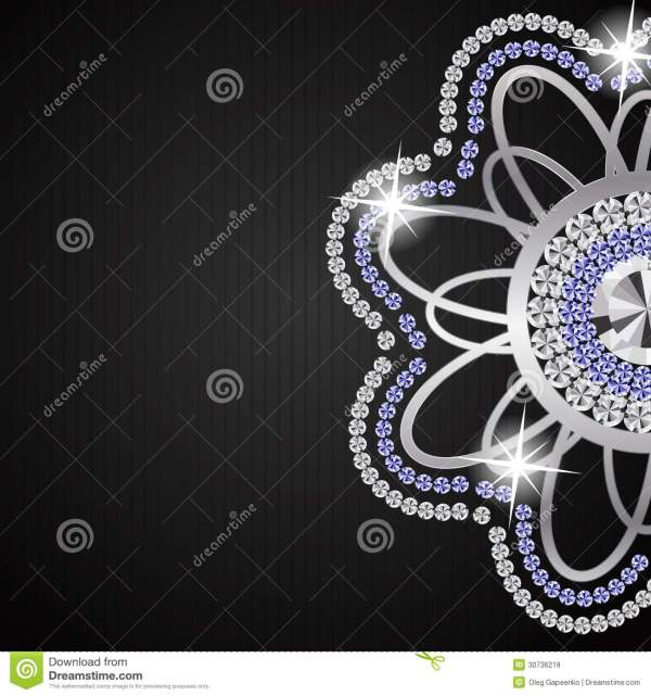 Beautiful Diamonds Background Vector Stock - Year of Clean Water