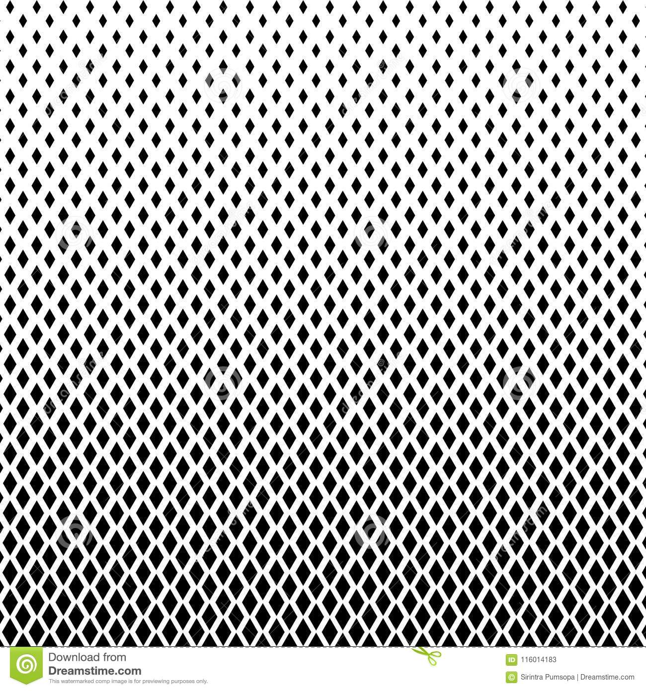 Abstract Black And White Color Of Squares Shapes Halftone