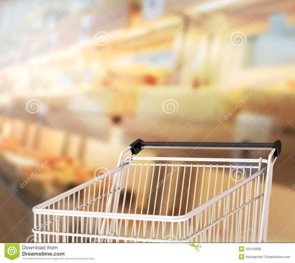 Abstract Blur Shopping Market Background Stock